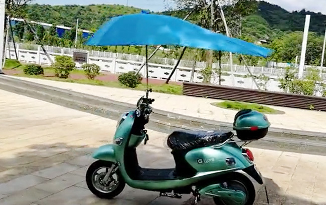 Video of electric car umbrella